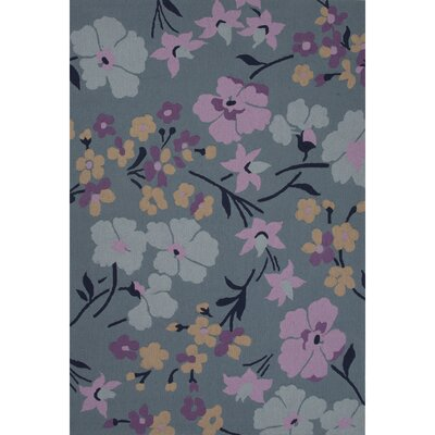 Idina Polyester Hand Tufted Blue/Purple Area Rug Rug Size: 5 x 76