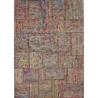 Mallory Recycled Multi Textured Area Rug Rug Size: 5 x 8