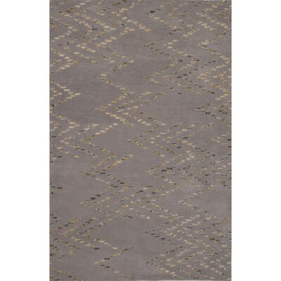 Jessica Wool Hand Tufted Gray Area Rug Rug Size: 5 x 8