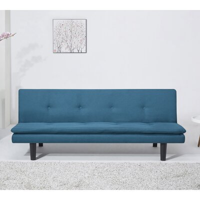 Martin Convertible Sleeper Sofa Upholstery: Teal