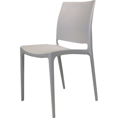Mira Side Chair (Set of 4) Upholstery: Light Grey