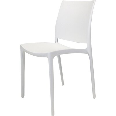 Mira Side Chair (Set of 4) Upholstery: White