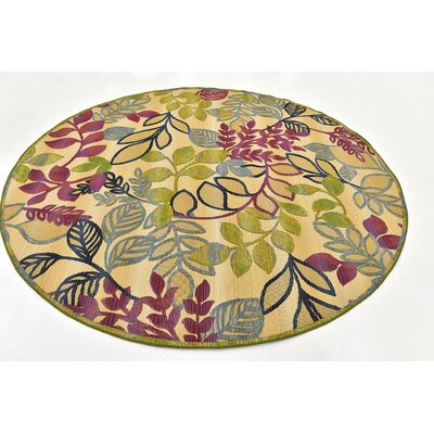 Ronda Pink Indoor/Outdoor Area Rug Rug Size: Round 8