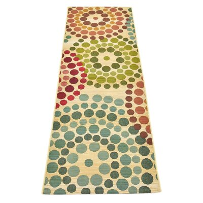 Ronda Beige Indoor/Outdoor Area Rug Rug Size: Runner 2 x 6