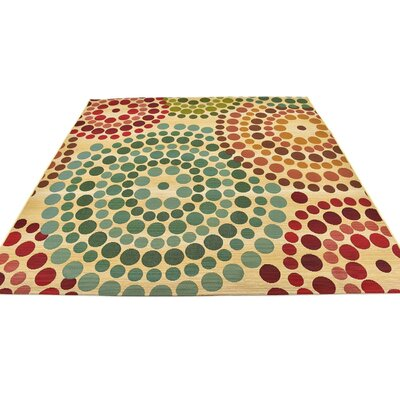Ronda Beige Indoor/Outdoor Area Rug Rug Size: Square 6