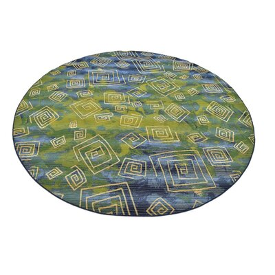 Camdyn Blue Indoor/Outdoor Area Rug Rug Size: Round 8