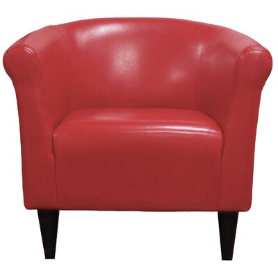 Liam Barrel Chair Color: Red