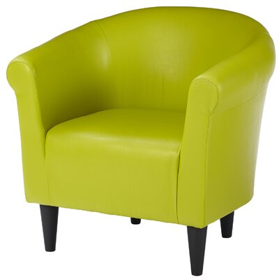 Liam Barrel Chair Upholstery: Green