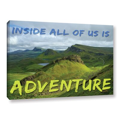 'Adventure' Graphic Art on Wrapped Canvas Size: 08