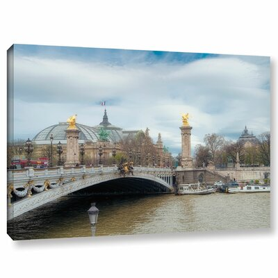 'Pont Alexandre III And Le Grand Palasis' Photographic Print on Wrapped Canvas Size: 08