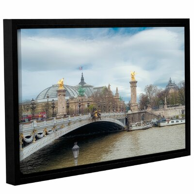 'Pont Alexandre III And Le Grand Palasis' Framed Photographic Print on Wrapped Canvas Size: 12