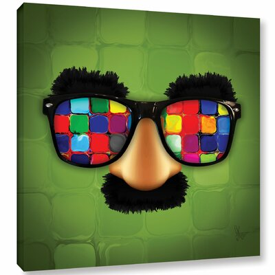 "'Groucho Rainbow Glasses' Graphic Art on Wrapped Canvas Size: 10"" H x 10"" W x 2"" D LTDR7497 41004654"