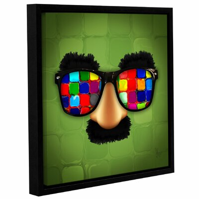 "'Groucho Rainbow Glasses' Framed Graphic Art Size: 10"" H x 10"" W x 2"" D LTDR7498 41004659"