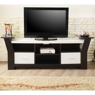 Keisha 66 TV Stand Color: Black / White