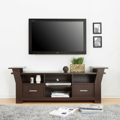 Keisha 66 TV Stand Color: Walnut