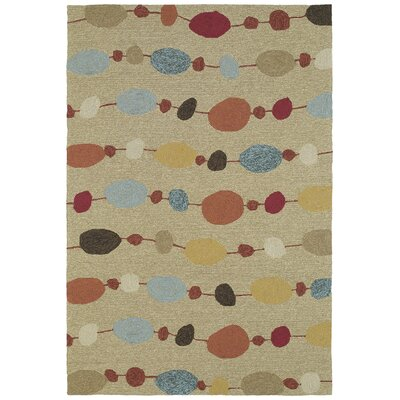 Alisa Sand Geometric Indoor/Outdoor Area Rug Rug Size: Rectangle 5 x 76
