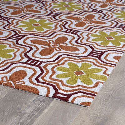 Bette Tangerine Indoor/Outdoor Area Rug Rug Size: Rectangle 2 x 3
