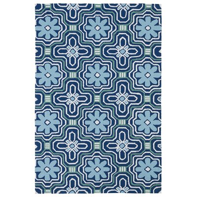 Bette Hand-Tufted Blue Indoor/Outdoor Area Rug Rug Size: 2 x 3