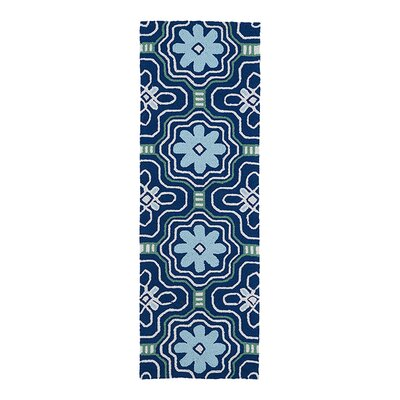 Bette Hand-Tufted Blue Indoor/Outdoor Area Rug Rug Size: Runner 2 x 6