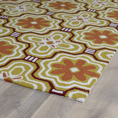 Bette Gold Indoor/Outdoor Rug Rug Size: Runner 2 x 6