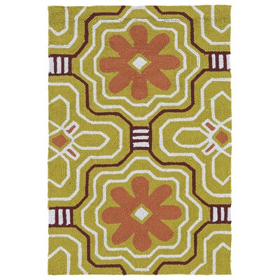 Bette Gold Indoor/Outdoor Rug Rug Size: 2 x 3