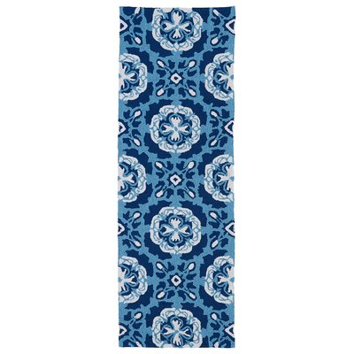Allisonville Hand-Tufted Blue Indoor/Outdoor Rug Rug Size: Runner 2 x 6