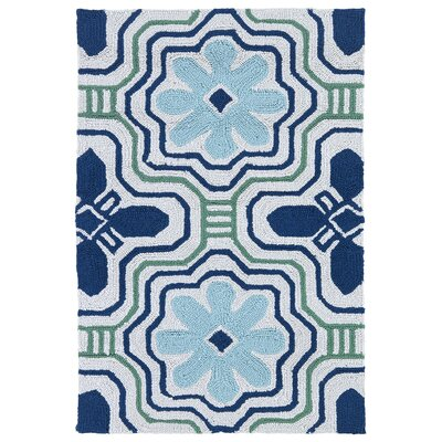 Bette Blue Indoor/Outdoor Rug I Rug Size: Rectangle 2 x 3