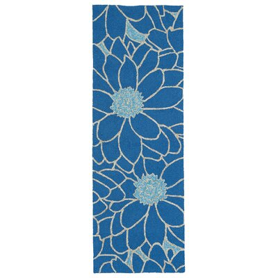 Alliston Blue Indoor/Outdoor Area Rug Rug Size: Runner 2 x 6