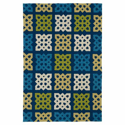 Susana Hand-Woven Blue Indoor/Outdoor Area Rug Rug Size: Round 59