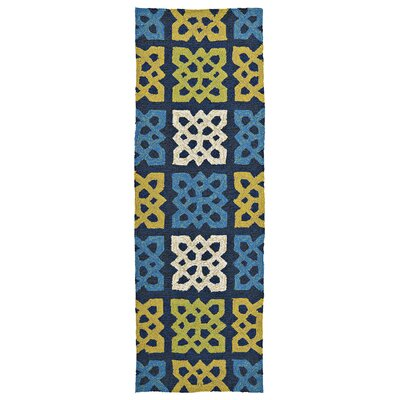 Alliston Hand-Woven Blue Indoor/Outdoor Area Rug Rug Size: Runner 2 x 6