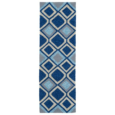 Alliston Blue Hand Woven Indoor/Outdoor Area Rug Rug Size: Runner 2 x 6