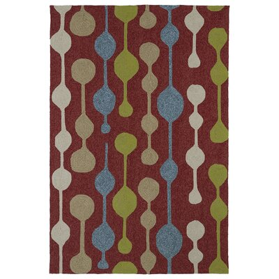 Susana Red Geometric Indoor/Outdoor Area Rug Rug Size: Round 59
