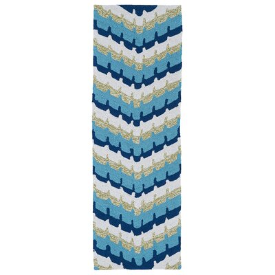 Susana Blue Geometric Indoor/Outdoor Area Rug Rug Size: Runner 2 x 6