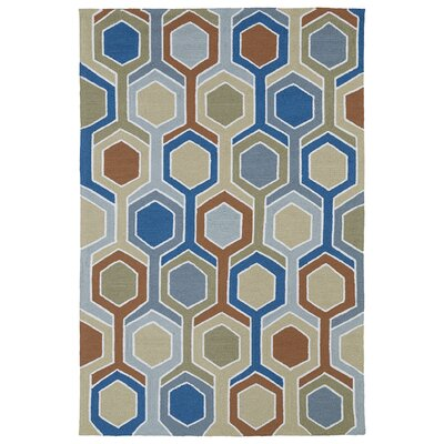 Alliston Geometric Indoor/Outdoor Area Rug Rug Size: 5 x 76