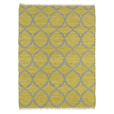 Dolder Yellow & Grey Area Rug Rug Size: Rectangle 76 x 9