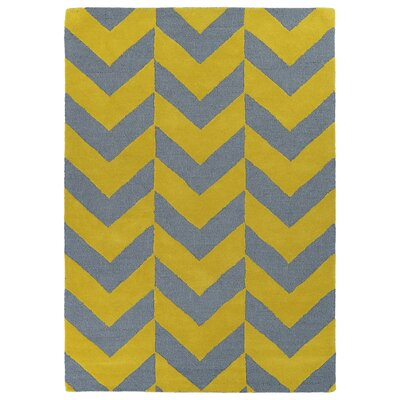 Thurlow Yellow/Grey Area Rug Rug Size: Rectangle 5 x 7