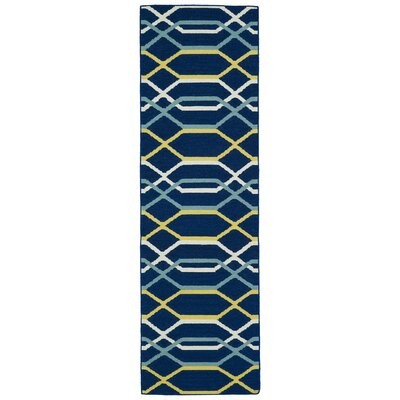 Dolton Blue Geometric Area Rug Rug Size: Runner 26 x 8