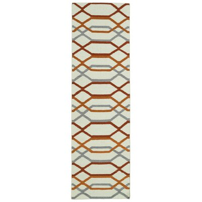 Dolton Ivory Geometric Area Rug Rug Size: Runner 26 x 8