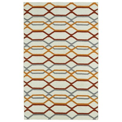 Dolton Ivory Geometric Area Rug Rug Size: Rectangle 36 x 56