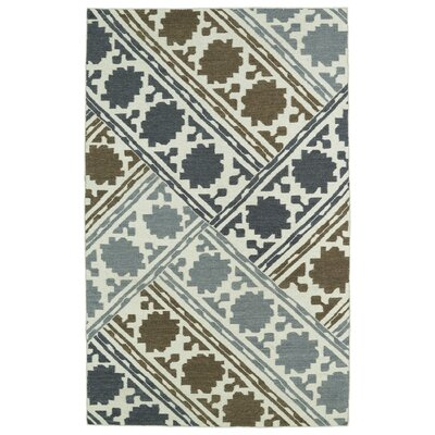 Dolton Geometric Wool Area Rug Rug Size: Rectangle 36 x 56