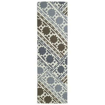 Dolton Geometric Wool Area Rug Rug Size: Runner 26 x 8