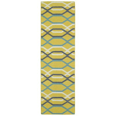 Dolton Yellow Geometric Area Rug Rug Size: Runner 26 x 8