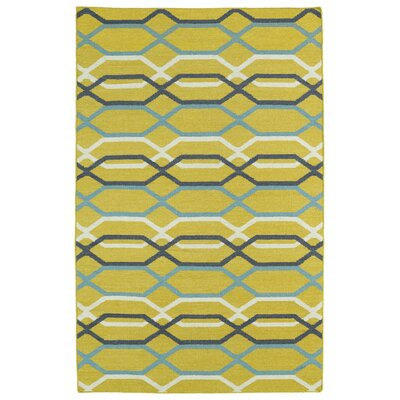 Dolton Yellow Geometric Area Rug Rug Size: Rectangle 36 x 56