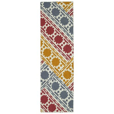 Dolton Geometric Area Rug Rug Size: Runner 26 x 8