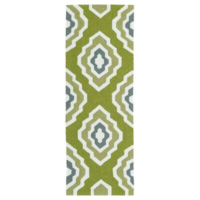 Alpine Bay Hand-Tufted Green Indoor/Outdoor Area Rug Rug Size: Runner 2 x 6