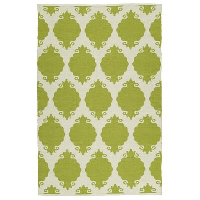 Dominic Cream/Wasabi Indoor/Outdoor Area Rug Rug Size: 3 x 5