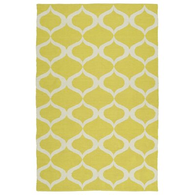 Dominic Yellow/Cream Indoor/Outdoor Area Rug Rug Size: Rectangle 5 x 76