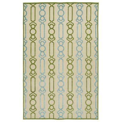Domingues Green Indoor/Outdoor Area Rug Rug Size: Rectangle 5' x 7'6