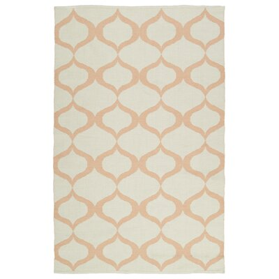 Dominic Cream/Pink Indoor/Outdoor Area Rug Rug Size: 2 x 3