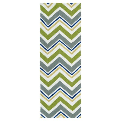 Alpine Bay Green Indoor/Outdoor Area Rug Rug Size: Runner 2 x 6